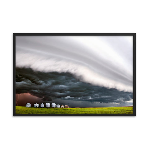 Stunning Shelf Cloud Over Granaries. Framed poster by Mark Duffy