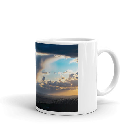 Hail Shower Over Jodrell Bank Coffee Mug by StormHour
