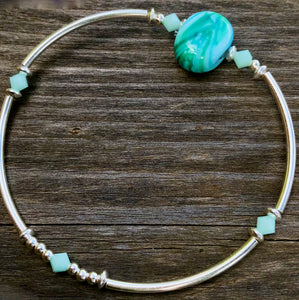 GENTLE GREENS stackable bracelet  CDN $45