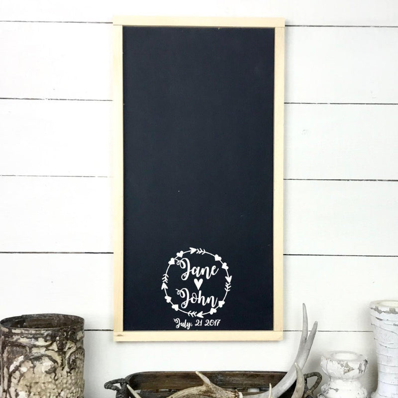 Wooden signboard with frame | Guest book for wedding with names and date. - teaches wood, sign, poster, wood signs, Old Shack Signs