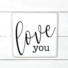 Love you, handmade, wooden sign in French, made in Quebec, Canada, sign frame picture board, made in Quebec, Canada, local purchase, Estrie, Montreal, Old Shack