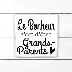 Wood sign | Happiness is being grandparents
