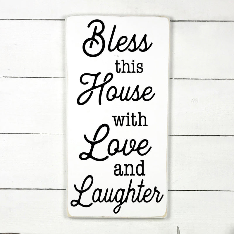 bless this home and all who enter, hand made wood sign, handmade, wood sign in French, made in Quebec, Canada, sign frame picture board, made in Quebec, Canada, local purchase, Estrie, Montreal, Old Shack