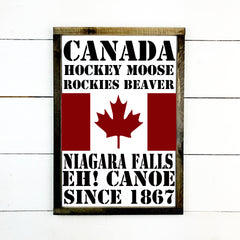Canada, hand made wood sign, handmade, wood sign in French, made in Quebec, Canada, sign frame picture board, made in Quebec, Canada, local purchase, Estrie, Montreal, Old Shack