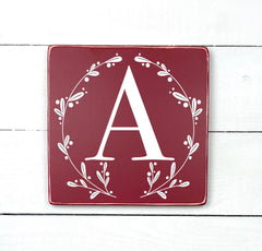 Monogram, hand made wood sign, handmade, wood sign in French, made in Quebec, Canada, sign, frame frame sign, made in Quebec, Canada, local purchase, Estrie, Montreal, Old Shack