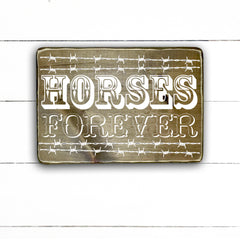Horses forever, handmade, wood sign in French, made in Quebec, Canada, sign, frame frame sign, made in Quebec, Canada, local purchase, Estrie, Montreal, Old Shack