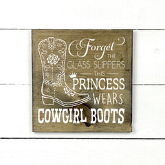 Wood sign | Cowgirl boots.