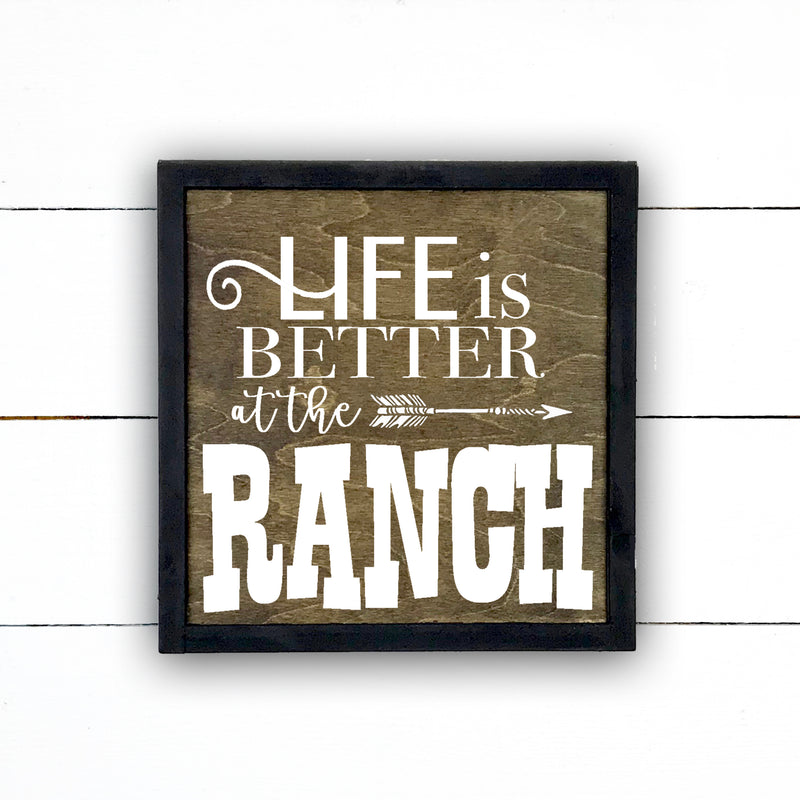 Enseigne bois | Life is better at the ranch