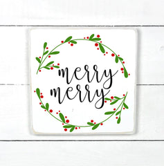 Wood sign | Merry Christmas