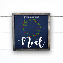 Wood sign | days before Christmas