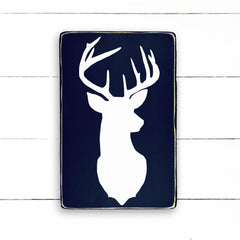 Buck, hand made wood sign, handmade, wood sign in French, made in Quebec, Canada, sign frame picture board, made in Quebec, Canada, local purchase, Estrie, Montreal, Old Shack