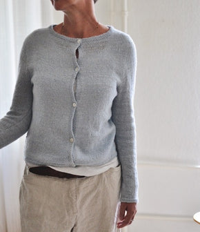 #13 JiJi cardigan in Smooth Sartuul sheep, designed by Anke Strick