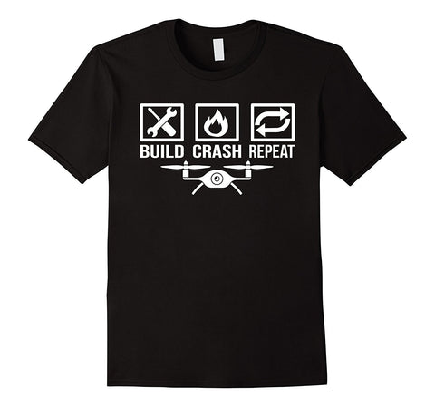 Tee-shirt BUILD CRASH REPEAT