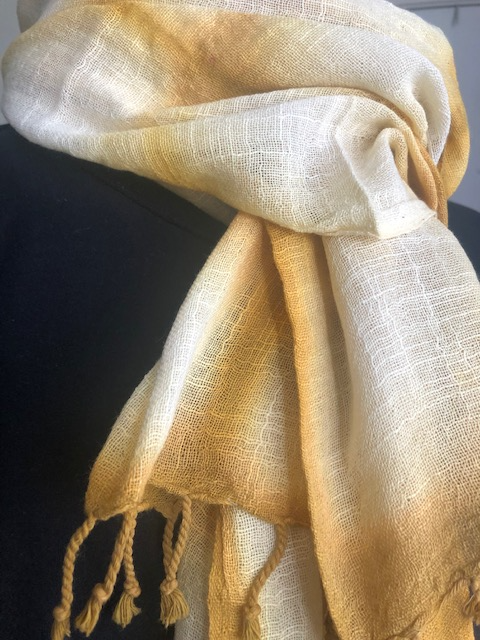 Handloomed Tie Dye Cotton Scarf