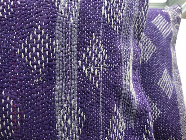 Purple Kantha Cushion Covers