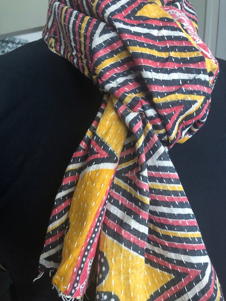 Cotton Kantha Scarf