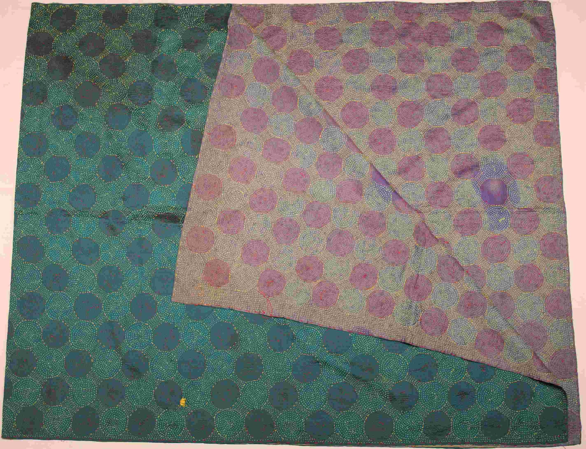 Hand-stitched Silk Throw