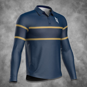 Men's Retro Striped Polo Top