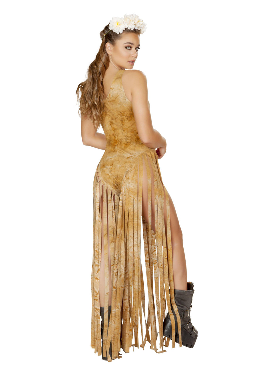 3536 - Bodysuit with Long Fringe