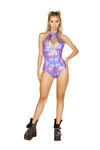 1pc Shimmer Holster Cutout Romper