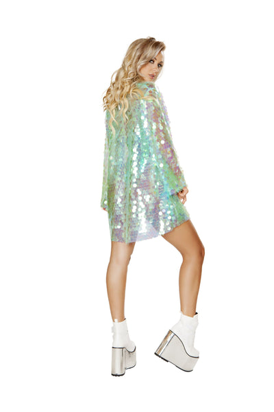 3571 - 1pc Iridescent Sequin Robe