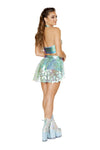 3599 - 1pc Open Asymmetrical Sequin Skirt