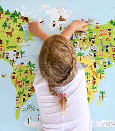Kinder Weltkarte |Children's world map