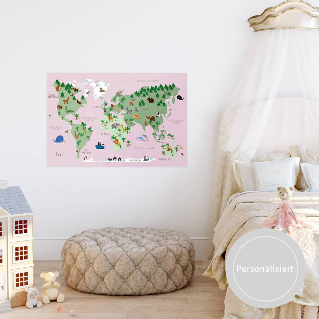 Weltkarte Kinder | Worldmap Kids