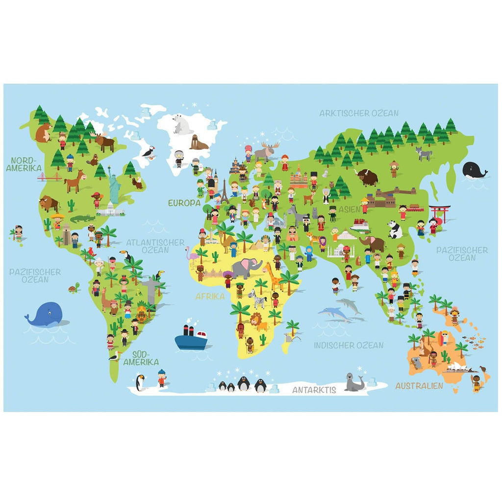Weltkarte Kinder | Kids Worldmap