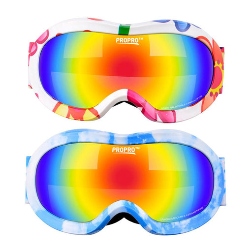 1 x Children Ski Goggles Double Lens Girls Boys Snowboard Skiing Glasses Kids Winter Snow Skiing Child Eyewear UV400 Anti-fog