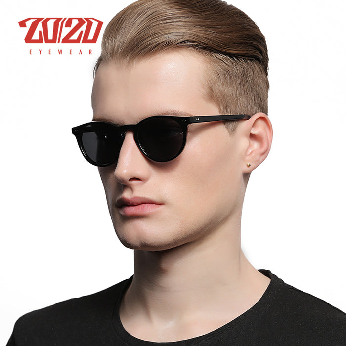 20/20 Brand Classic Men Polarized Sunglasses Women Retro Acetate Eyewear Rivet Shades Unisex Sun glasses UV400 AT8002