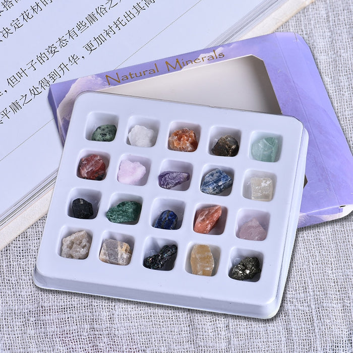20 pieces of irregular tumbling mini mineral stone collection art ornament decoration set gift and crystal mineral natural stone|Stones