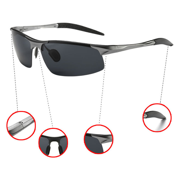 Aluminum magnesium spring hinges women men cool polarized Sunglasses uv400 driving oculos sun Glasses with original box