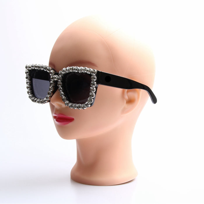 Sunglasses Women Square Vintage sunglasses Bling Rhinestone Sunglasses for Women Oversize Sun glasses Summer Style UV400