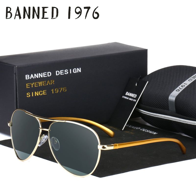 fashion retro Aluminium magnesium UV400 HD Polarized Sunglasses men women Driving Outdoor cool Sun glasses For Male