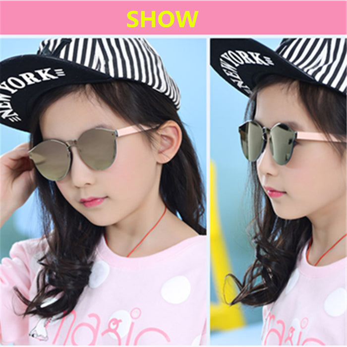 Baby Boys Girls Kids Sunglasses Vintage Round Sun Glasses Children Arrow Glass 100%UV Protection Oculos De 3-13 years