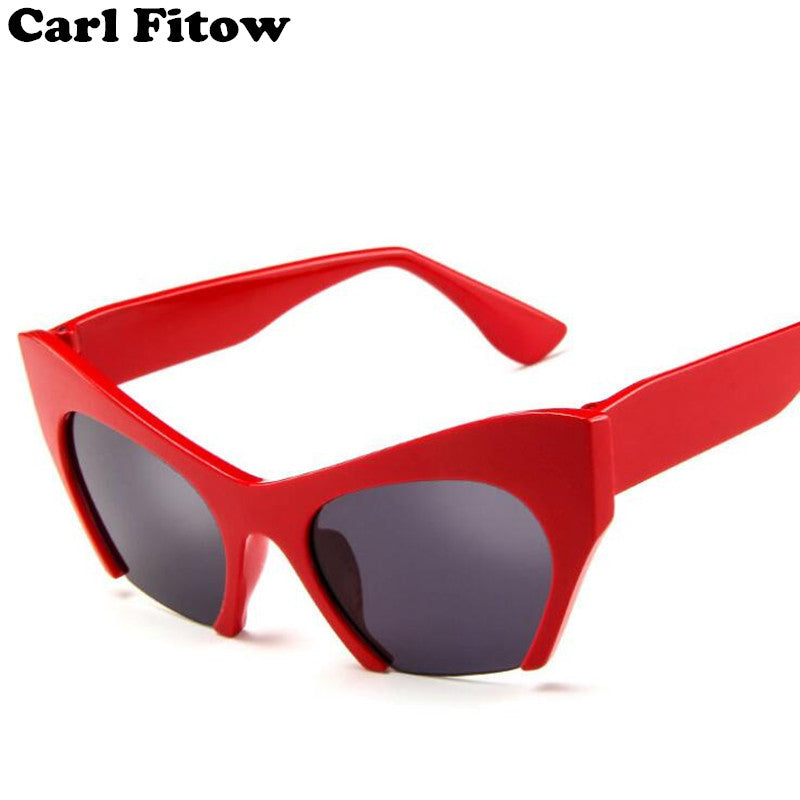 Fashion Cat Eye Sunglasses Women Brand Designer Vintage Luxury Street Snap Sun Glasses Oculos De Sol Feminino Gafas