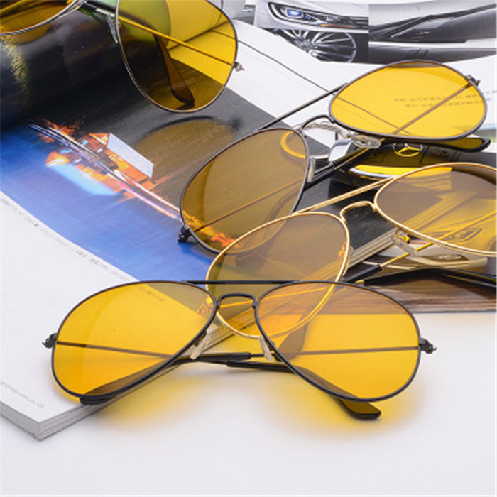 Glasses Men's Sunglasses Car Drivers Night Vision Goggles Anti-Glare Sun glasses Women Driving Glasses