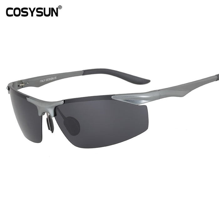 New Aluminum Magnesium Polarized Sunglasses Men's Driving Sunglasses male sun glasses Men Sports Sunglasses with Case 0206