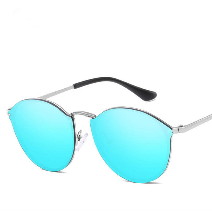 New Arrival Women Classic Brand Designer Cat Eye Sunglasses Rimless Metal Frame Sun Glasses S'58051