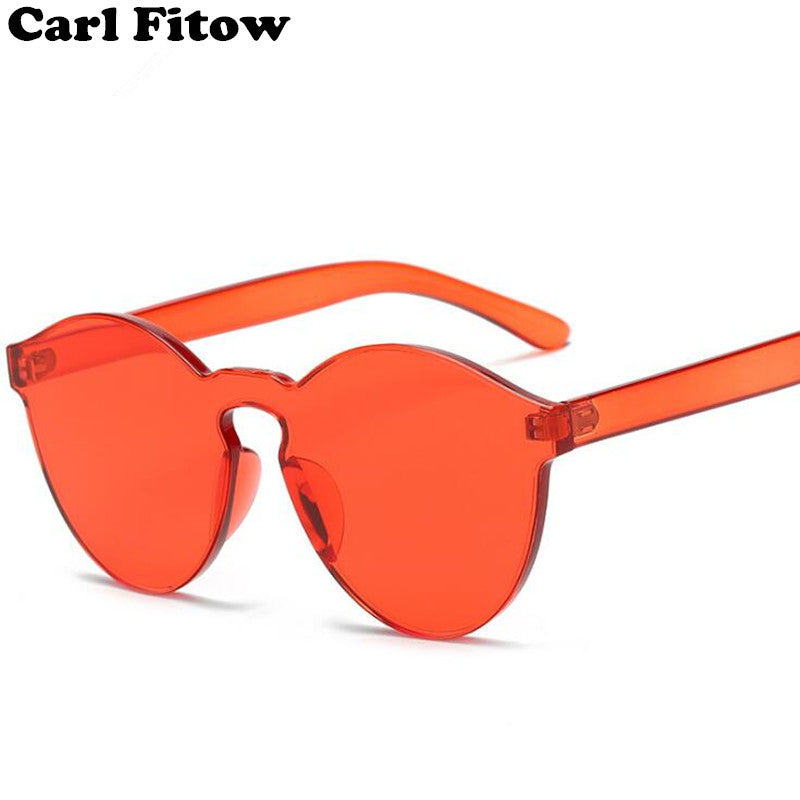 New Fashion Women Flat Sunglasses Luxury Brand Designer Sun glasses Eyewear Candy Color Mirror UV400 oculos de sol