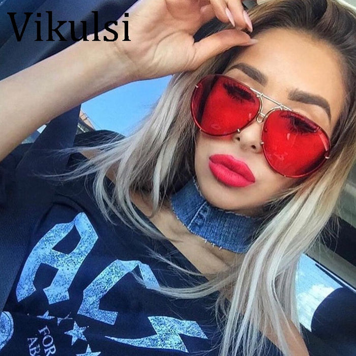 2a6fad322b 2018 Oversized Aviator Sunglasses Women Brand Shades Reflective Mirror  Sunglasses Big Pilot Sun glasses For Female