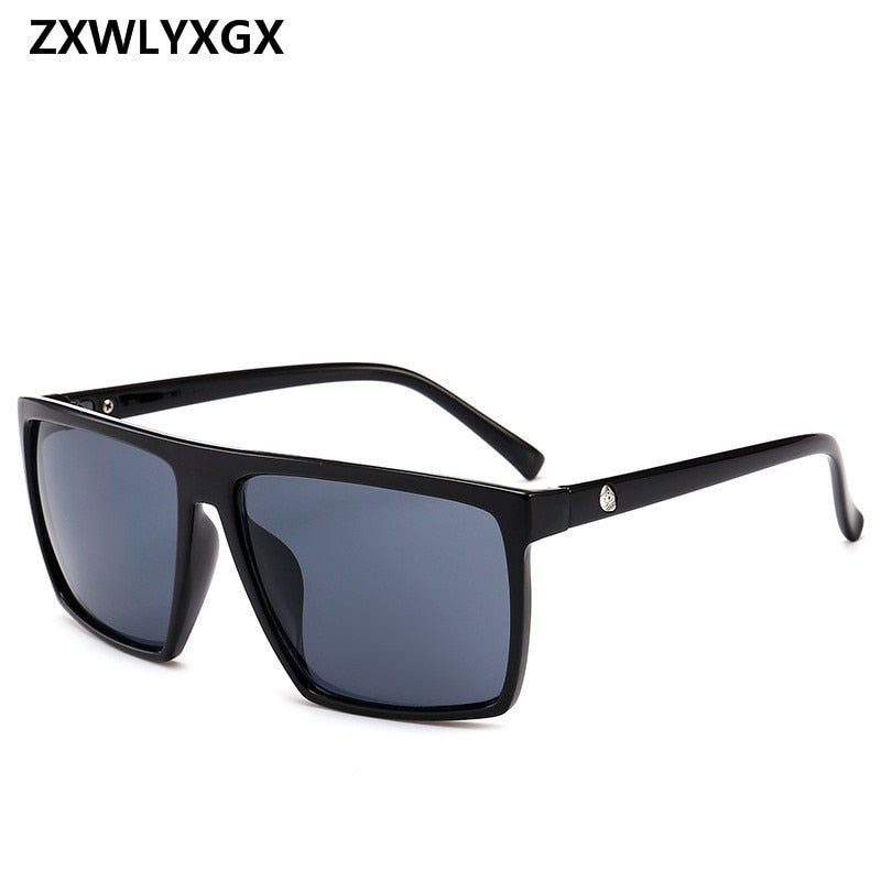 Square Sunglasses Men Brand Designer Mirror Photochromic Oversized Sunglasses Male Sun glasses Man oculos de sol