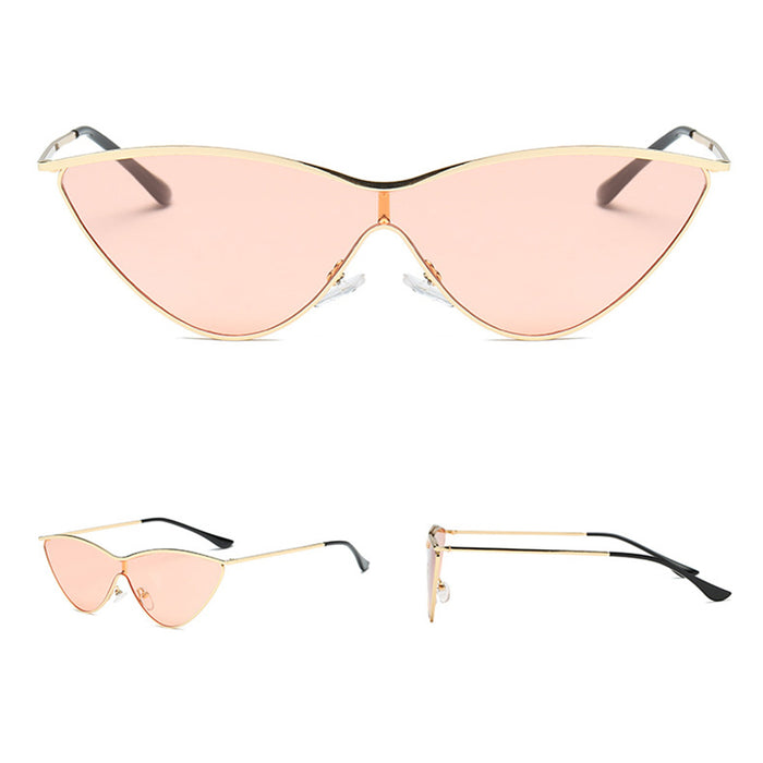 Vintage Cat Eye Sunglasses Women Men Metal Frame UV400 Sunglass Brand New Shades One Piece Sun Glasses Female Gafas De Sol