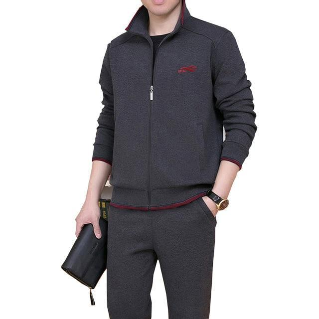 3Pcs High Quality Tracksuit Men New Sweat Suit Tracksuit Three Piece Sweatershirt Set Casual Men-Men's Sets-GIDFIIFAN Store-Gray-M-EpicWorldStore.com