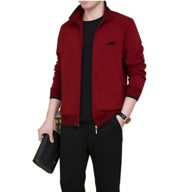 3Pcs High Quality Tracksuit Men New Sweat Suit Tracksuit Three Piece Sweatershirt Set Casual Men-Men's Sets-GIDFIIFAN Store-Red-M-EpicWorldStore.com