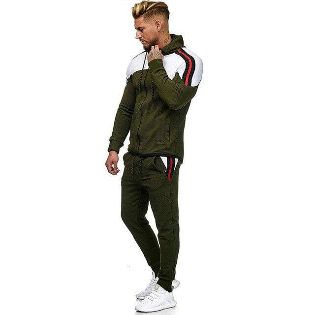 5Xl Two Piece White Men Tracksuits Hoodies Mens Clothing Brand Tracksuit For Men Sports Sets-Men's Sets-BLFXiang Men Store-Army green sets-M-EpicWorldStore.com