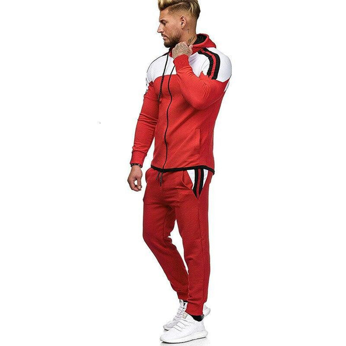 5Xl Two Piece White Men Tracksuits Hoodies Mens Clothing Brand Tracksuit For Men Sports Sets-Men's Sets-BLFXiang Men Store-black sets-M-EpicWorldStore.com
