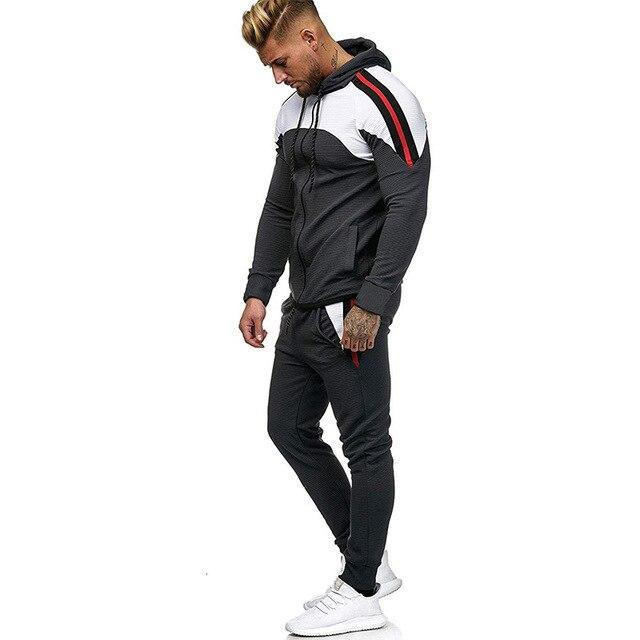 5Xl Two Piece White Men Tracksuits Hoodies Mens Clothing Brand Tracksuit For Men Sports Sets-Men's Sets-BLFXiang Men Store-Dark grey sets-M-EpicWorldStore.com