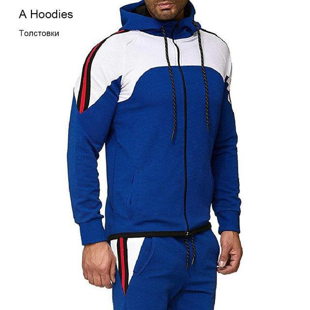 5Xl Two Piece White Men Tracksuits Hoodies Mens Clothing Brand Tracksuit For Men Sports Sets-Men's Sets-BLFXiang Men Store-Navy Blue Hoodies-M-EpicWorldStore.com
